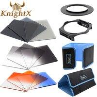 KnightX 58mm 67mm 72mm 77mm lente de densidad neutra nd Kit de filtro de color para Cokin P Set SLR DSLR Cámara serie conjunto para Nikon