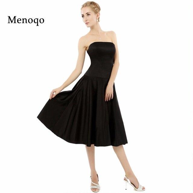 Simple Strapless Black Cocktail Dresses