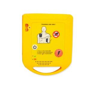 Image 4 - מיני AED אוטומטי Cardiopulmonary דפיברילטור החייאה הדרכה העזרה הראשונה מכשיר בספרדית + 1 החייאה מגן פנים