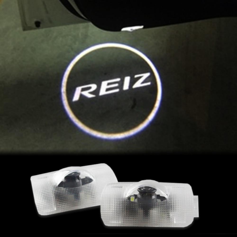 JURUS 2pcs HD LED Car Door Welcome Light Ghost Shadow Light Logo Projector For Toyota Mark