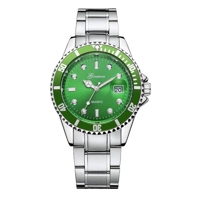 цена на GONEWA Brand Men Fashion Casual Watches Military Stainless Steel Date Sport Quartz Analog Wrist Watch Men