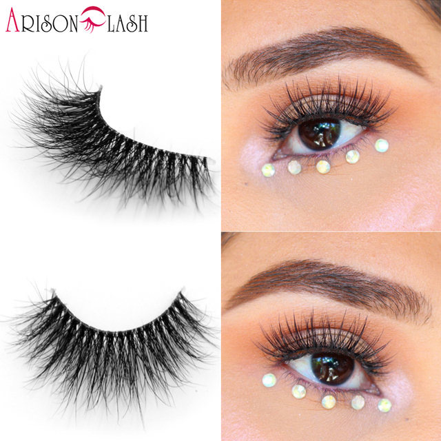 023f9a195c1 Natural Long 3D Mink Lashes Clear Band For Make Up Full Strip Lashes  Extension Real Riberian Mink Double Layered False Lashes