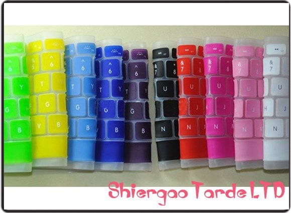 Beatiful Color! Silicon KeyBoard cover protector skin for Laptop   10pcs/lot