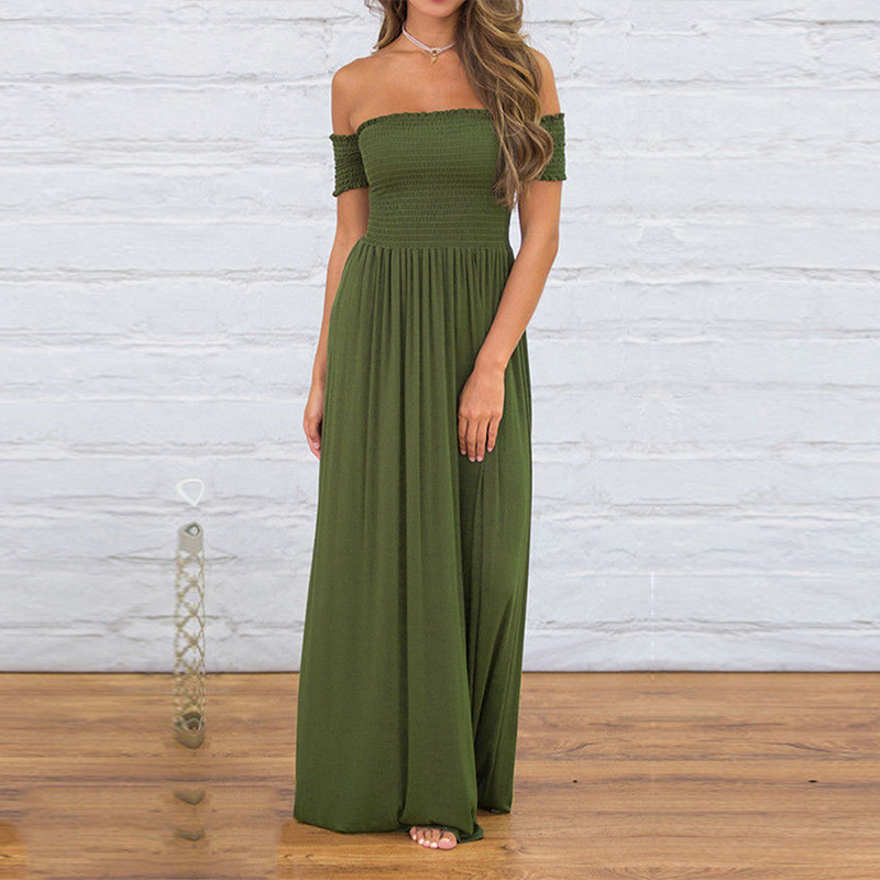 Maxi Long Party Dress Sexy Off Shoulder Women Loose Summer Beach Boho Dresses Casual Vintage Retro Medieval Dress Oversized