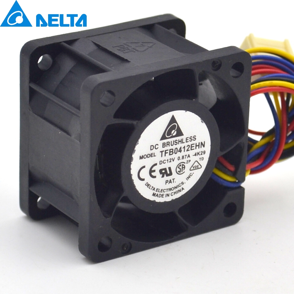TFB0412EHN 4028 0.87A ultra violent double ball bearing fan 4 cables used to the server