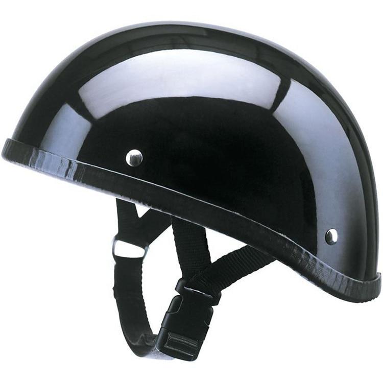 Nouveau haute qualité FRP vintage moto demi casque moto rétro classique Jet casques pour Harley équipe avec un masque