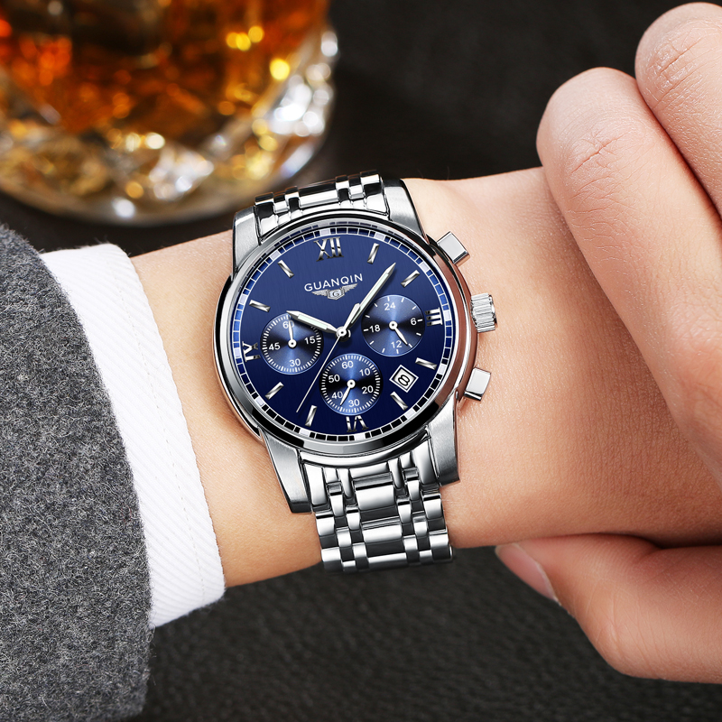 stainless mens fashion skeleton clock mechanical steel product blue luxury top watches winner watch men automatic brand ocean designer casual