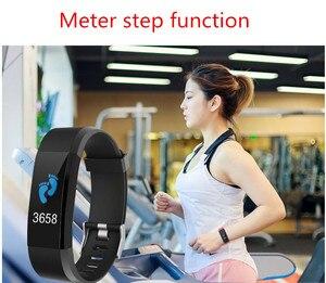 Image 2 - New thể thao vòng đeo tay thông minh không thấm nước máy đo huyết áp vòng đeo tay thông minh tập thể dục tracker pedometer thông minh vòng đeo tay thông minh PK của tôi ban nhạc