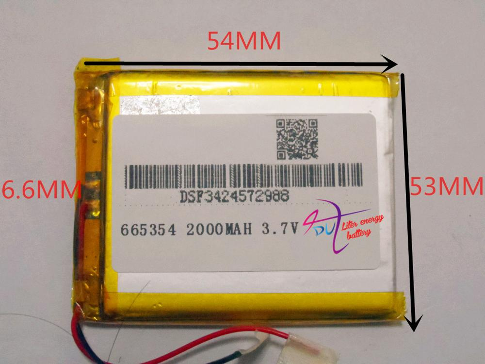best battery brand 665354 3.7V 2000mAh lithium polymer battery devices such as digital instrumentation products Universal Rechar