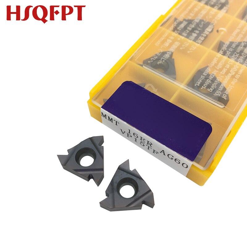10PCS MMT 16ER AG60/AG55 VP15TF/US735/UE6020 External Turning Tools Carbide Insert Lathe Cutter Tool Tokarnyy Turning Insert