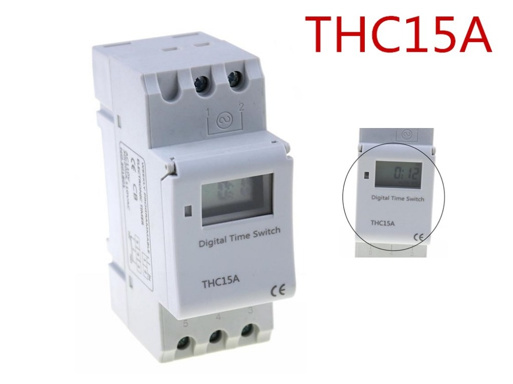 THC15A zb18B timer switchElectronic Weekly 7Days Programmable Digital TIME SWITCH Relay Timer Control AC 220V 16A Din Rail Mount new arrival high quality 16a 220v ac digital lcd weekly programmable timer time relay switch ve505 p30