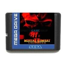 Mortal Kombat II Cartouche De Jeu Illimité Date 16 bits Carte de Jeu Pour Sega Mega Drive/Genesis Système