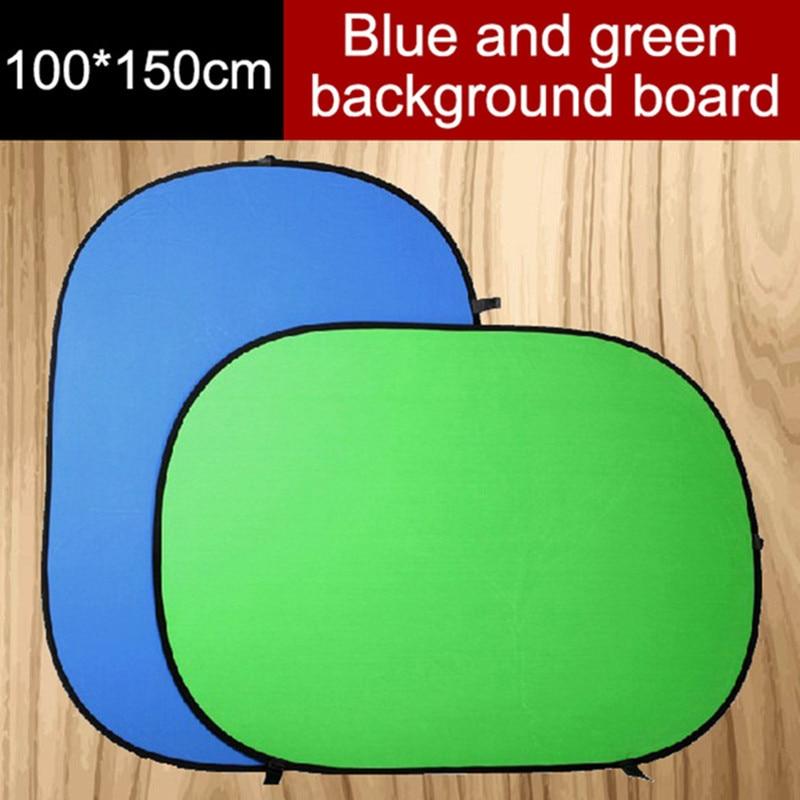 Hanmi 100*150CM Oval Collapsible Portable Reflector Blue and Green Screen Chromakey Photo Studio Light Reflector For Photography qzsd 80cm portable photography reflector studio accessory