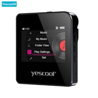 Yescool S3 Professional HIFI stereo Lossless MP3 player Support 128G TF card Mini Sports music player Support DSD64/128 walkman