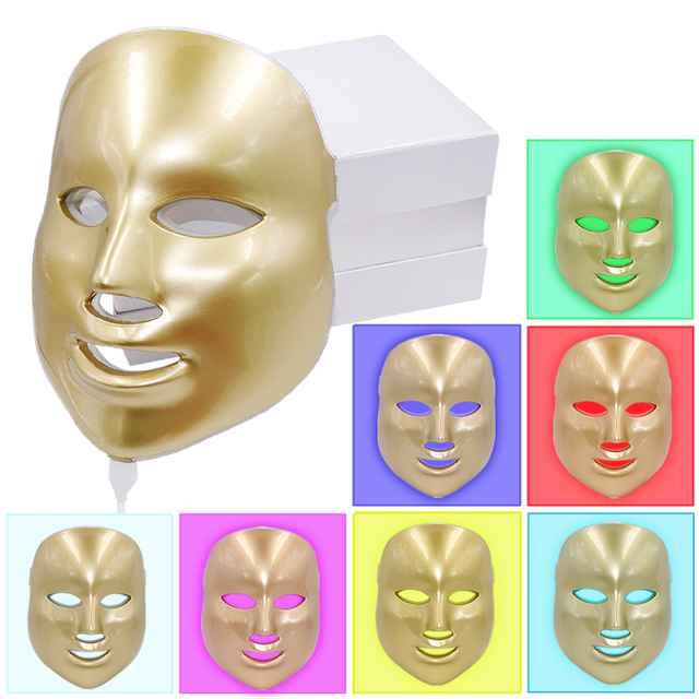 7Colors Light Photon Electric LED Facial Mask Home Use Skin PDT Skin Rejuvenation Anti Acne Wrinkle Removal Therapy Beauty Salon