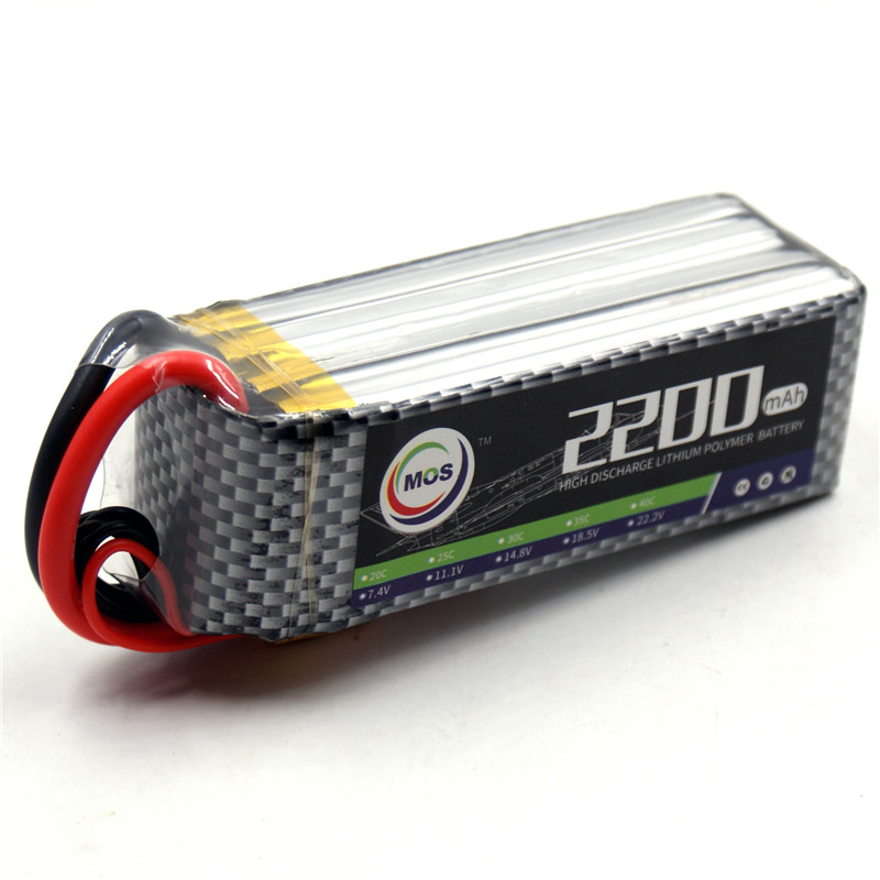 MOS 4S lipo battery 14.8v 2200mAh 40C For rc helicopter rc car rc boat quadcopter Li-Polymer battey mos 2s lipo battery 7 4v 5000mah 30c for rc helicopter rc car rc boat quadcopter li polymer battey