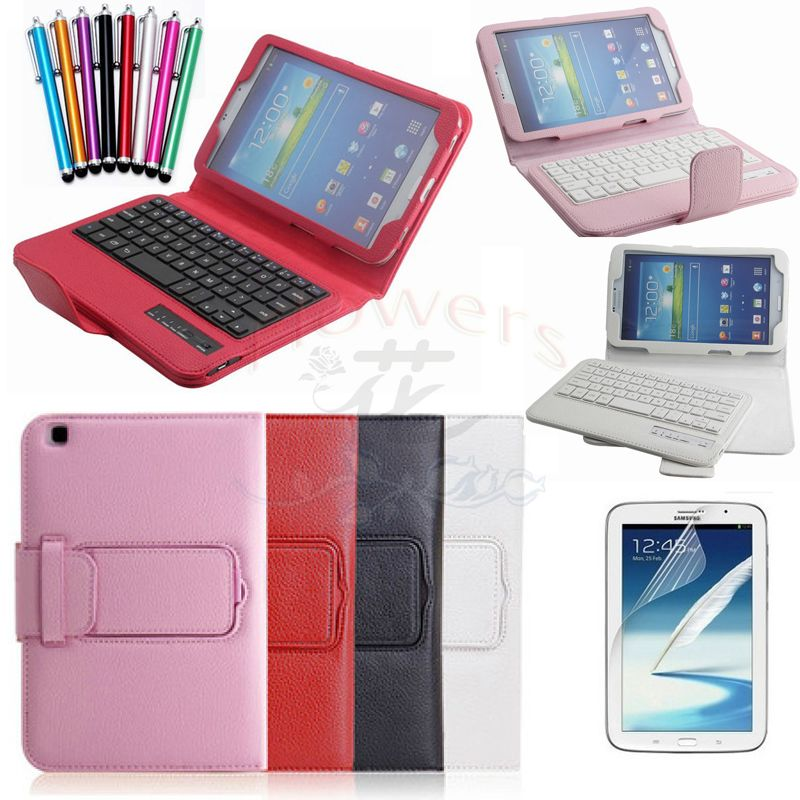 Detachable Removable Wireles Bluetooth Stand Magnetic Keyboard Leather Case skin cover For Samsung Galaxy Tab 3 8 T310 T311 bluetooth v3 0 59 key keyboard with detachable case for samsung galaxy tab 4 8 0 black