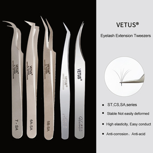 VETUS 1 Pcs volume lash Tweezers Stainless Steel Eyelash Tweezers for Eyelash Extension Eye Makeup Tools SA ST(China)