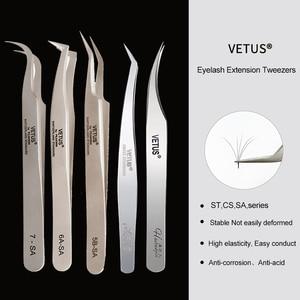 Image 1 - VETUS 1 Pcs volume lash Tweezers Stainless Steel Eyelash Tweezers for Eyelash Extension Eye Makeup Tools SA ST