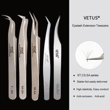 Vetus 1 Pcs Volume Lash Pincet Rvs Wimper Pincet Voor Wimper Extension Eye Makeup Tools Sa St