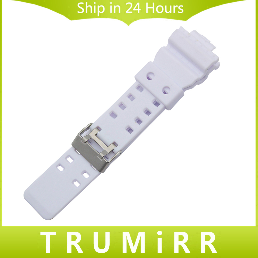 29mm x 16mm Silicone Rubber Watchband for GA100 GA110 GD120 GW8900 GLS100 Electronic Watch Strap Resin Wirst Bracelet White Camo