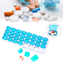 31 Days Medicine Tablet Dispenser Organizador Case Medical Container Pill Box Weekly Storage Case Extra Large Monthly Pill Organ practical medicine pill box case transparent green large