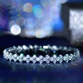 USTYLE Fashion Brand design from Rome AAA+ Cubic Zirconia Crystal Stones Paved BVL Bracelet For Women Jewelry UB0001