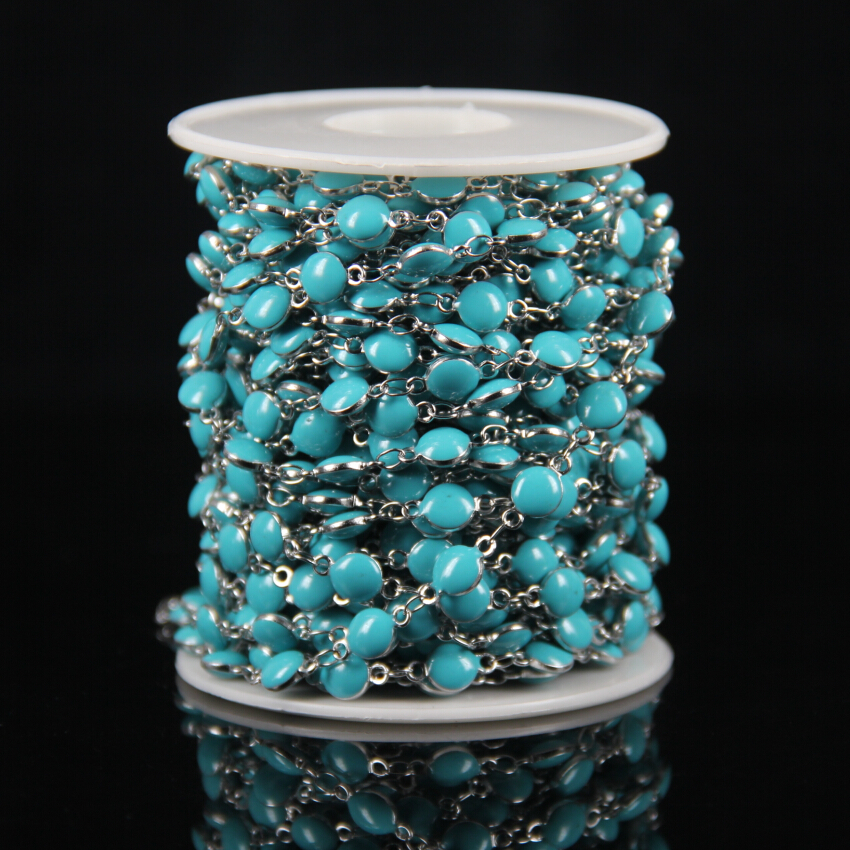 Wholesale Tur quoise Color Lampwork Bead Wire Wrapped Beaded ...