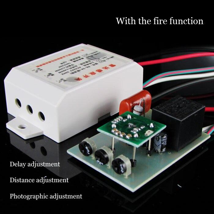Haute Qualité 220 v IR Infrarouge Module de Détection Micro-ondes Radar motion Capteur Interrupteur Photosensible Retard Distance Est Réglable