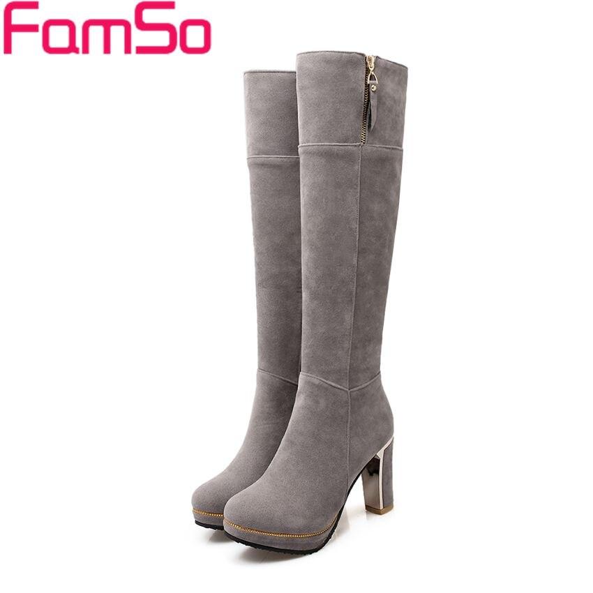 Size 34 43 2016 New Sexy font b Women s b font Boots Black High heels