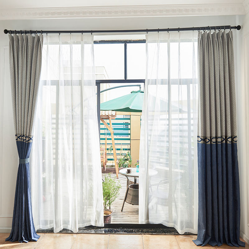 US $30.02 41% OFF|Luxury Two color Window curtains living room bedroom  modern household items high blackout curtains high quality-in Curtains from  ...