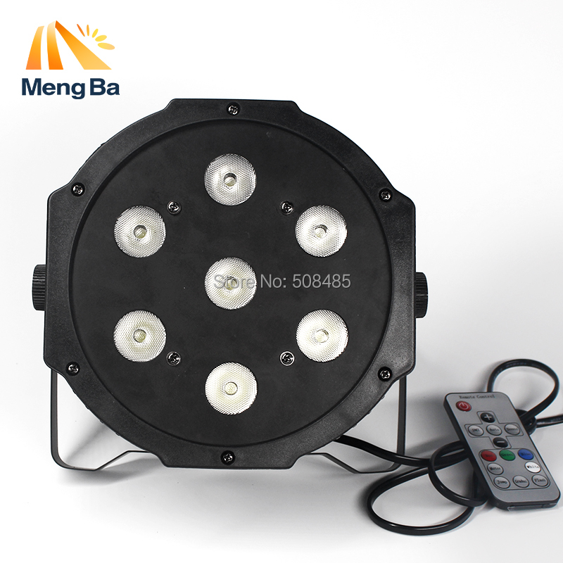 12PCS/lot Wireless Remote Control LED American DJ LED SlimPar 7x12W RGBW 4IN1 Wash Light Stage lighting No Noise Fast Shipping