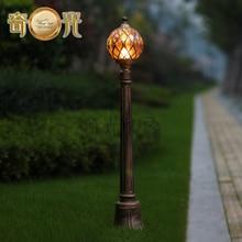 Теннис формы сад газон лампы бронза, алюминий открытый путь освещения водонепроницаемый фонарный столб светильник бронзовый 220 В/110 В
