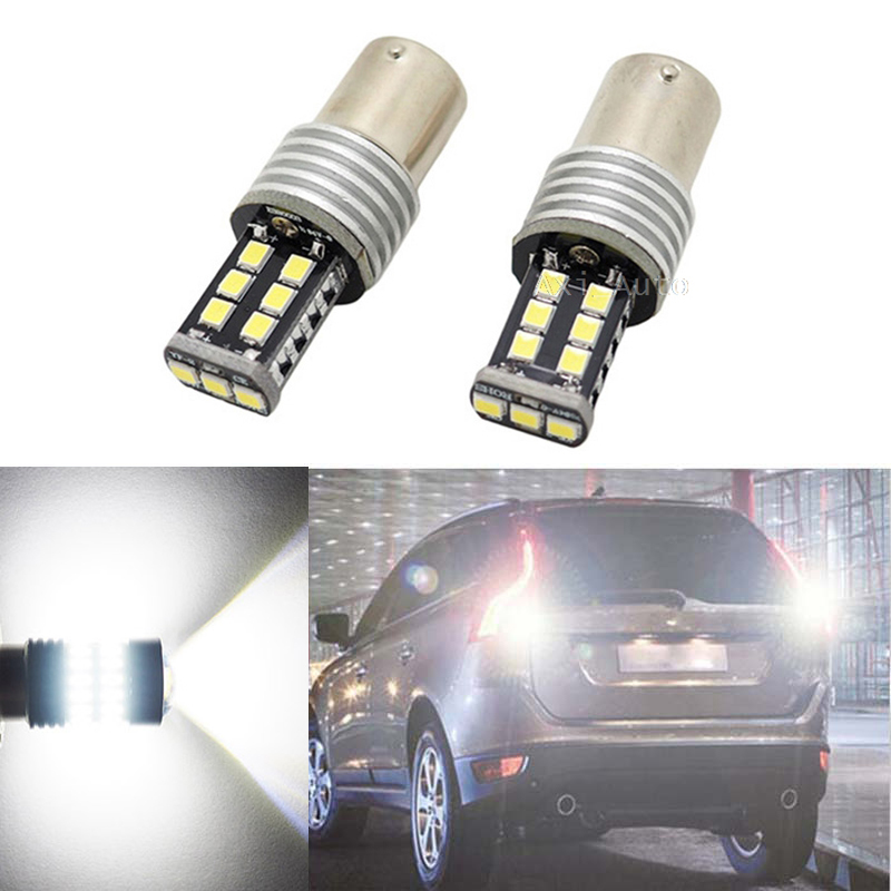 Oxilam 2Pcs 1156 BA15S LED <font><b>Lights</b></font> NO ERROR P21W 12W Car LED <font><b>Rear</b></font> Reversing Tail Bulb For <font><b>volvo</b></font> xc90 xc60 v70 <font><b>s80</b></font> s40 v60 c30 v50 image