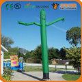 Бесплатная доставка 20ft 6 м 45 см диаметр трубы зеленый надувные размахивая танцор воздуха для рекламы, надувные танцы человек