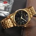 Nova Marca de Moda de Luxo AMUDA Relógios Homens de Ouro Assistir Business Casual Quartz Relógio de Pulso À Prova D' Água Masculino Relogio masculino