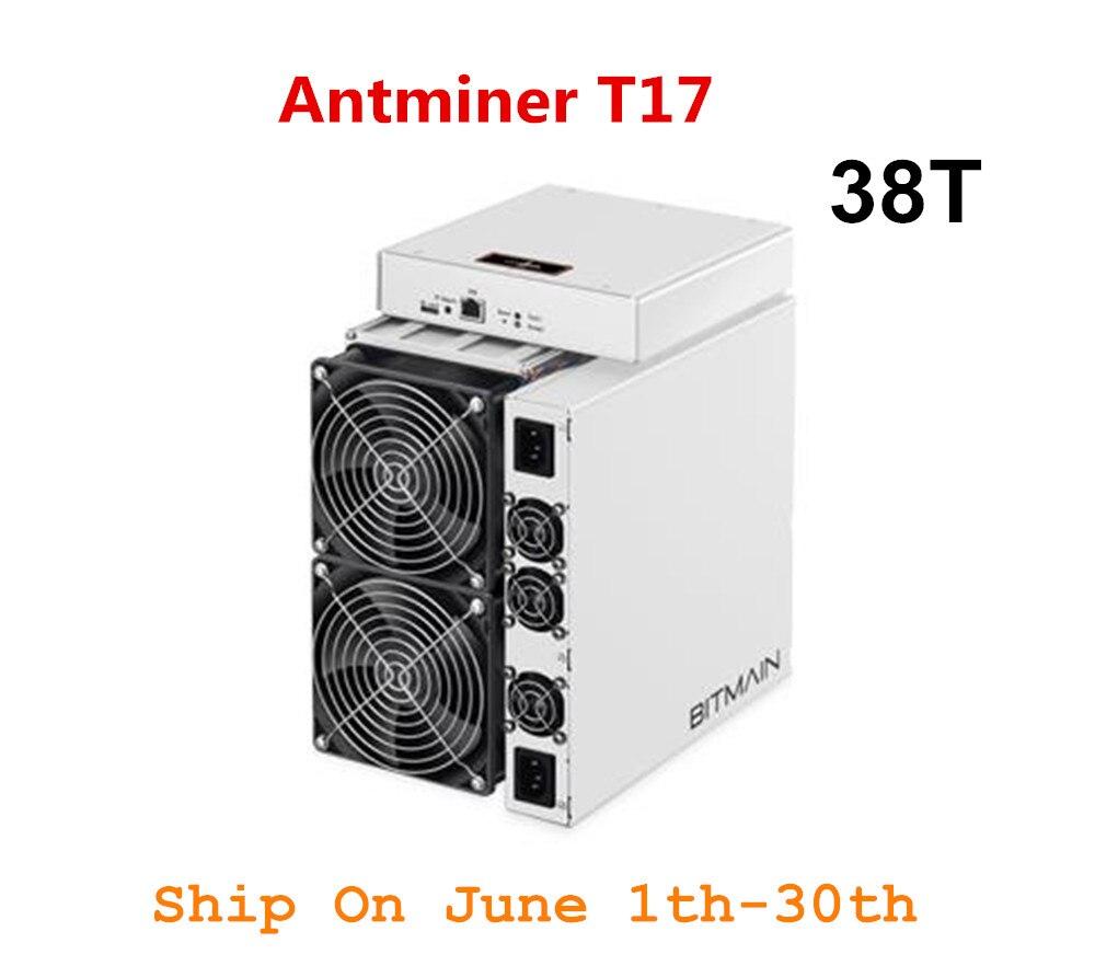 BITMAIN plus récent Asic BTC BCH mineur AntMiner T17 38TH/S avec PSU mieux que S9 S11 T15 S15 S17 S17 Pro Z11 WhatsMiner M3 M10 M20S