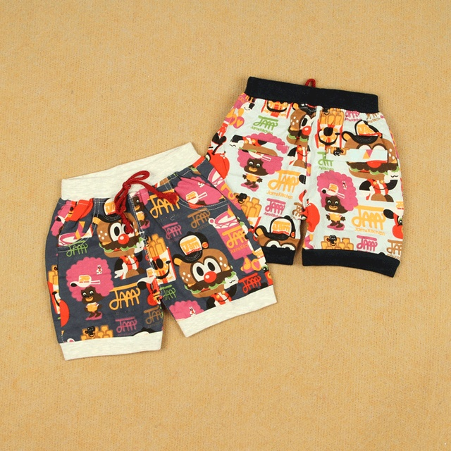 Summer baby cotton 100% high waist flower trousers male female children's child pants big pp pants openable-crotch lines, dual
