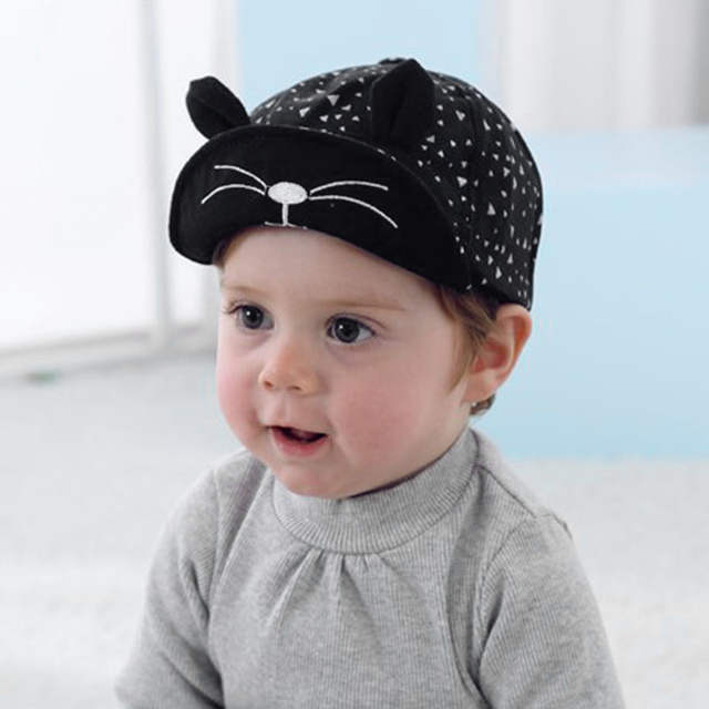 0de4ed19850 placeholder Fashion Korean Kid Baseball Cap Cotton Cute Cat Hat Newborn  Infant Caps Soft Brim Boy Girl