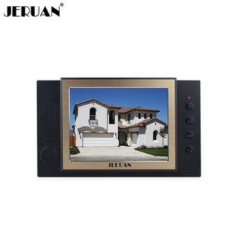 JERUAN 8 inch video door phone doorbell intercom system only monitor video recording photo taking black doorphone +power adapter