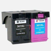 2x compatible hp 301 hp301 cartucho de tinta para hp 301 xl para hp 1050a 2050a 2054a 3050a 3054a 3052a 3050se impresora