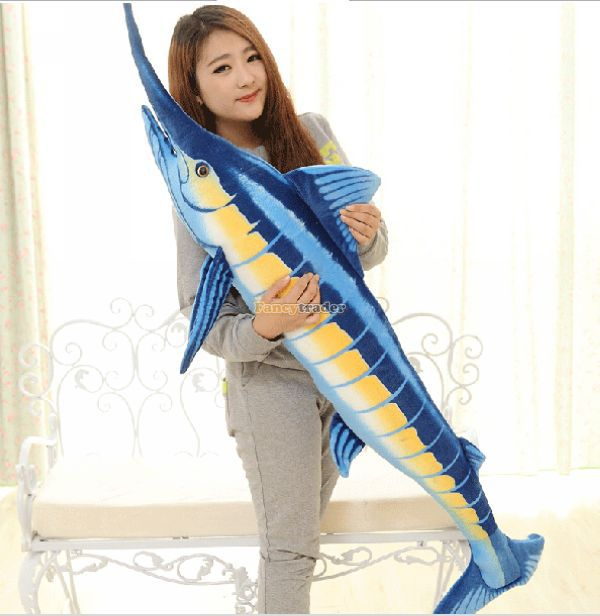 Fancytrader 63'' / 160cm Biggest Giant Stuffed Plush Simulational Tuna Tunny Toy, Great Toy, Free Shipping FT50261 fancytrader biggest in the world pluch bear toys real jumbo 134 340cm huge giant plush stuffed bear 2 sizes ft90451