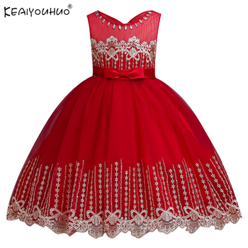 beed93a07 Nuevos niños vestidos para niñas ropa de bebé niñas vestido de princesa  vestido de fiesta de cumpleaños hermoso de Pascua vestidos trajes