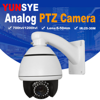 10X optical zoom Indoor outdoor mini speed dome camera,PTZ Camera CCD 700TVL BNC RS485 Cable Mini Analog PTZ Speed Dome Camera