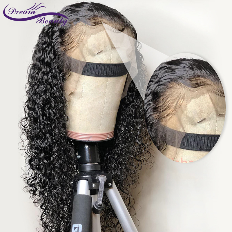 Lace Front Human Hair Wigs 13x4 Curly Wig Brazilian Remy Hair Lace Frontal Wigs Preplucked Natural