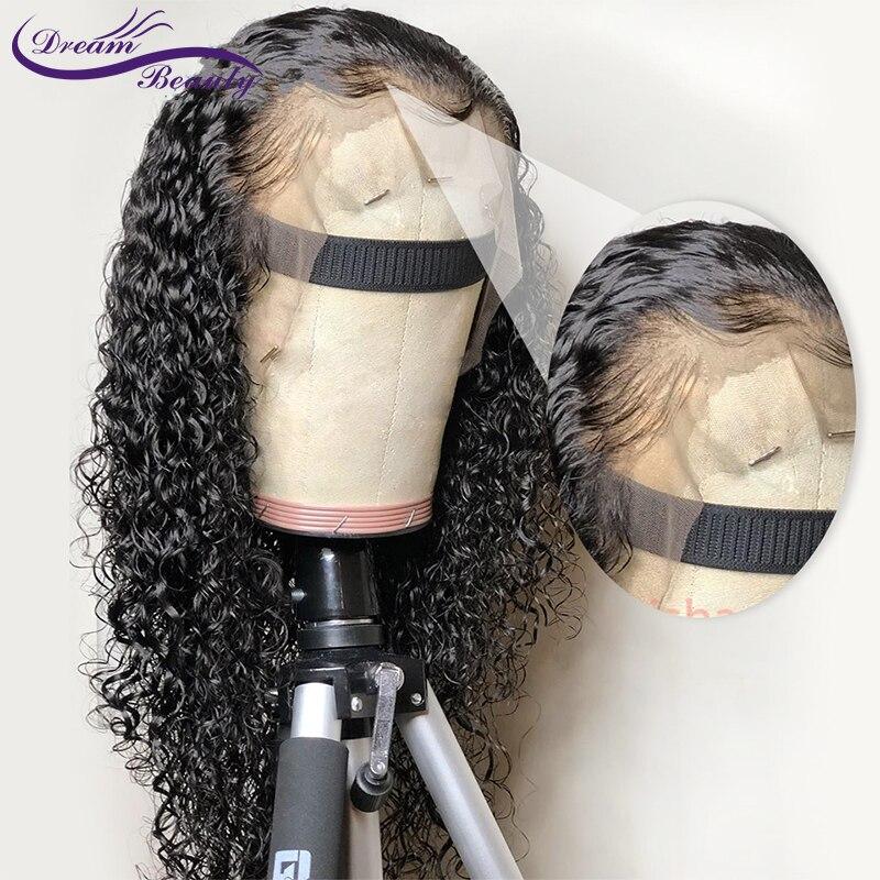 Pelucas de pelo humano Frontal de encaje 13x4 peluca rizada brasileña no Remy pelucas frontales de encaje Natural predesplumado pelo sueño de belleza-in Peluca de encaje de cabello humano from Extensiones de cabello y pelucas on AliExpress - 11.11_Double 11_Singles' Day 1