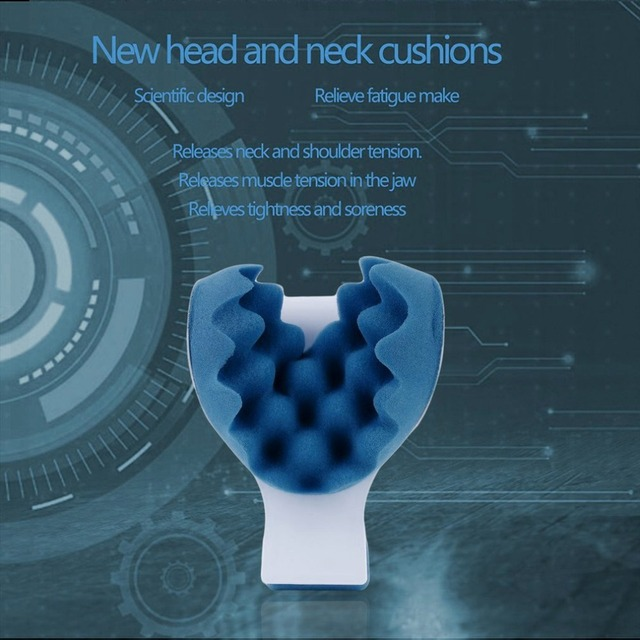 Neck Support Pillow Tension Reliever Massager Head Neck Shoulder Relax Muscle Tension Relieves Tightness Soreness Theraputic 2