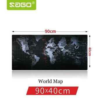Саго 900*400 мм Gaming Мышь Pad замок края Мышь pad карта мира Мышь Pad для ноутбука Macbook мышь Notbook компьютерная плеер