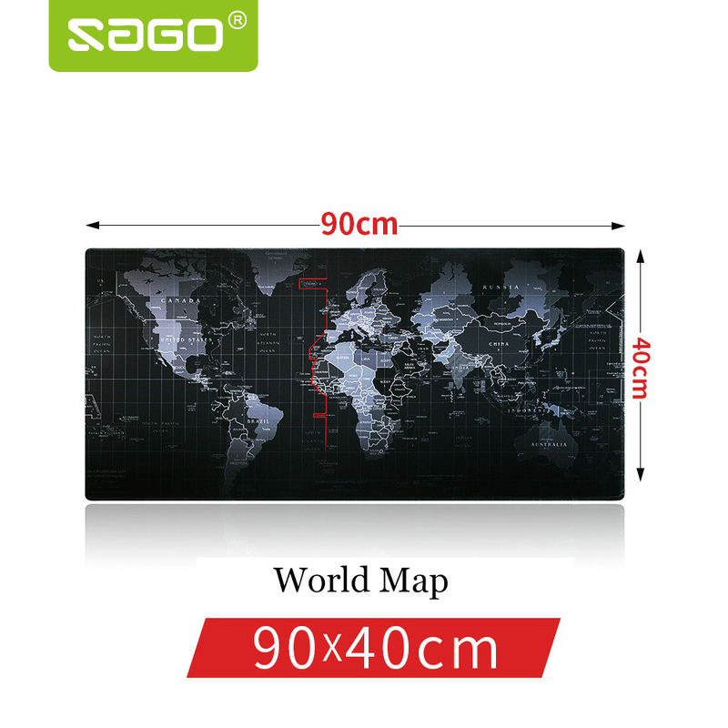 Sago 900*400 mm Gaming Mouse Pad Locking Edge Mousepad World Map Mouse Pad For for Macbook Laptop Mouse Notbook Computer Player