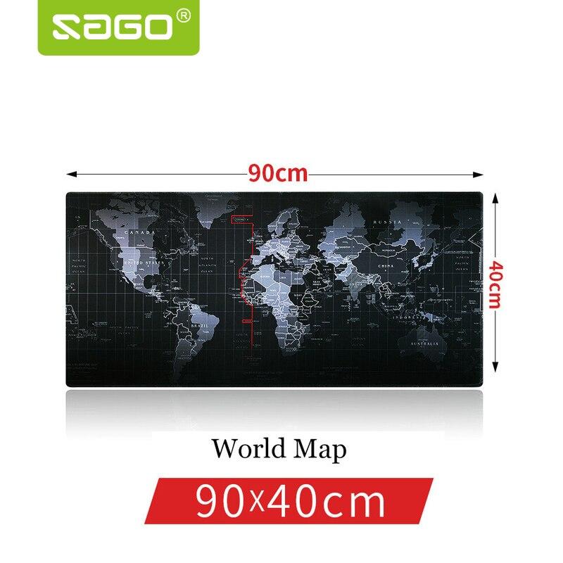 Sago 900*400mm Gaming-mauspad Rastkante Mauspad Welt karte Mauspad Für für Macbook Laptop Maus Notbook Computer Player